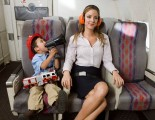 Little Boy Trying to Annoy Female Passenger